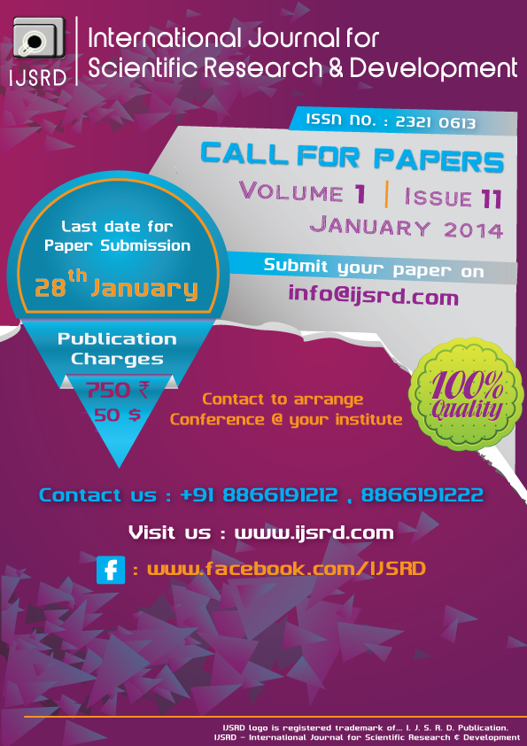 CALL FOR PAPERS VOLUME-1,ISSUE-11